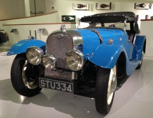 Blue Morgan Classic Car