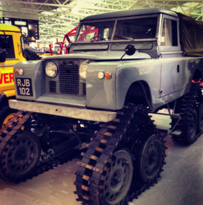 Caterpillar Land Rover Defender