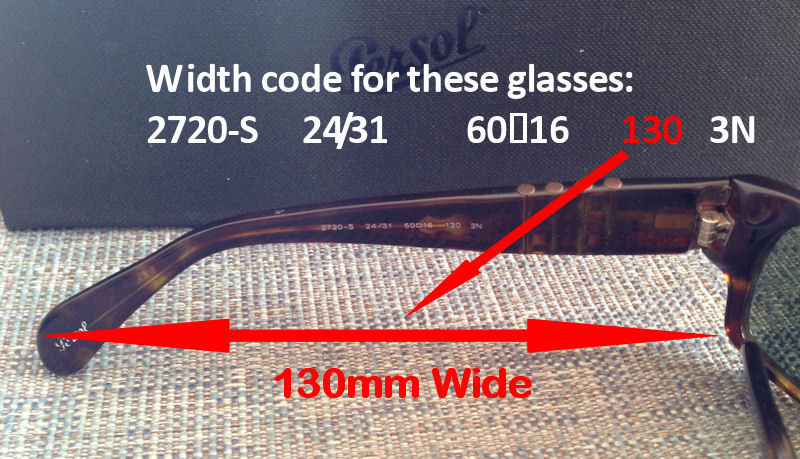 Persol sunglasses model size lens number code meanings
