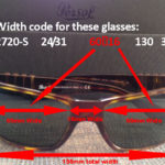 Persol Width Code Meanings