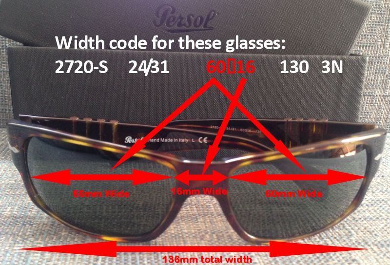 a0ebd75ba0367 Persol Sunglasses Model   Size   Lens Number Code Meanings