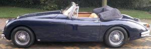 Jaguar XK150 Blue