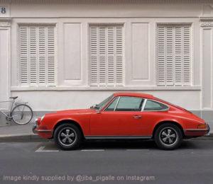 Red Porsche 911T