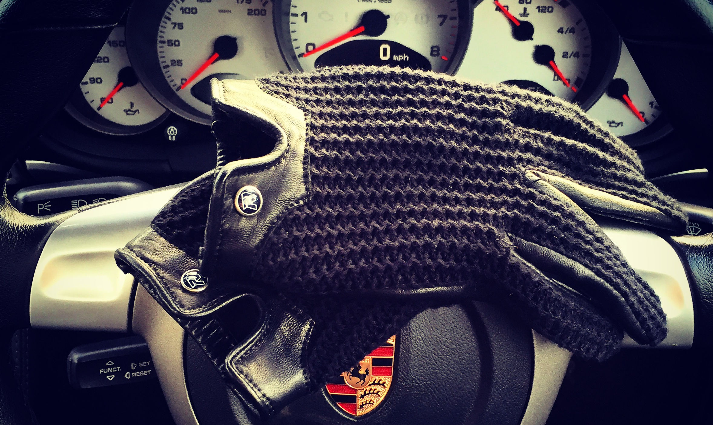 Autodromo Driving Gloves in Black
